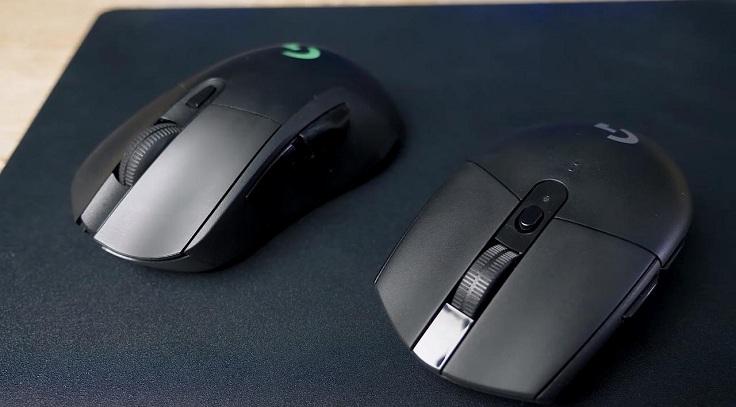 Это Logitech G703 и G305, обе с быстрым откликом