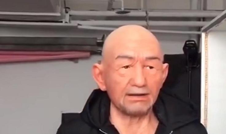 """Силиконовая маска """"Старик"""""""