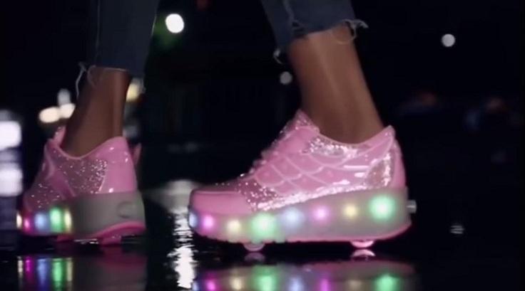LED кроссовки с колесом