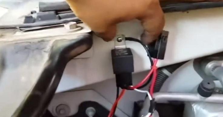 Выносная кнопка с реле