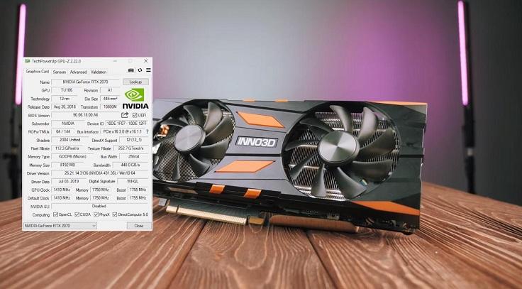 Но не стоит забывать, что TDP у Radeon выше, чем у RTX 2070: 225 Вт против 175.