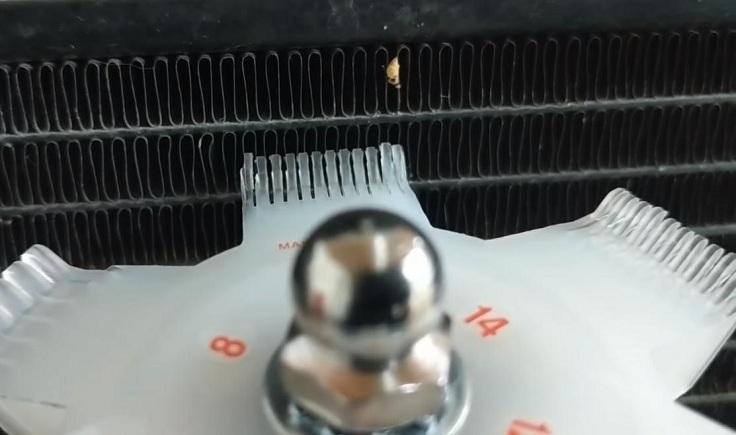Выпрямление радиатора
