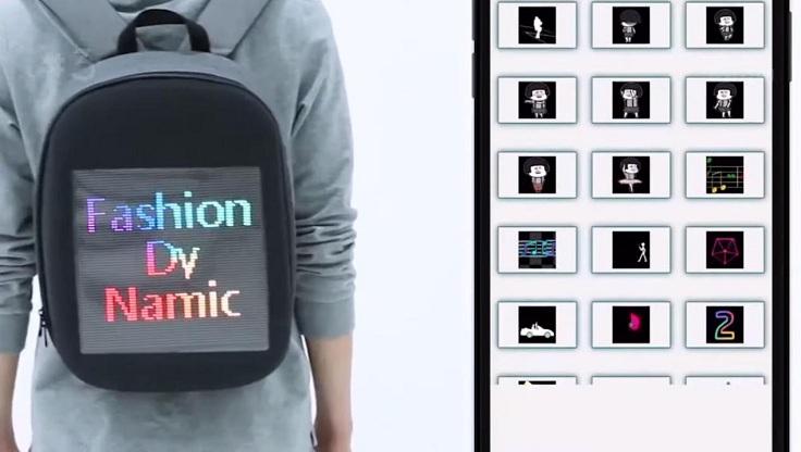 Рюкзак с LED панелькой