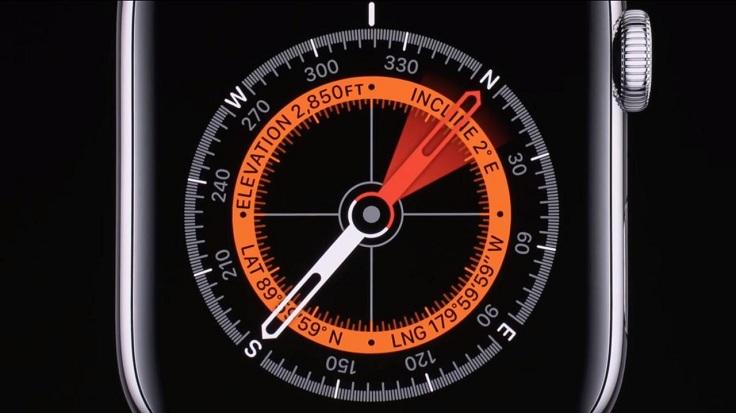 В новое поколение часов встроили компас