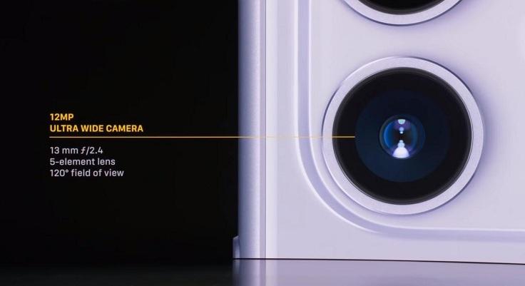 Камера получила второй ультраширокоугольный 5 линзовый объектив