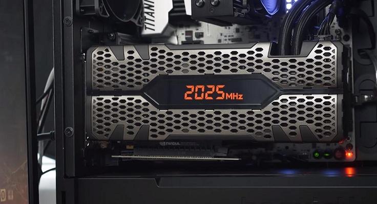 Максимальная частота графического чипа, которую я наблюдал в бусте 2040 МГц.