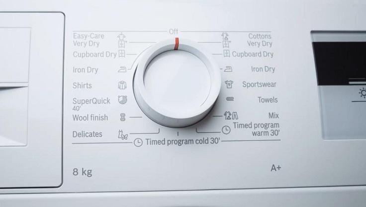 В современных сушилках имеется несколько программ для высушивания белья.