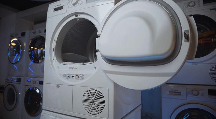 Вместо нагревательного элемента в сушильном автомате стоит тепловой насос (Heat Pump)