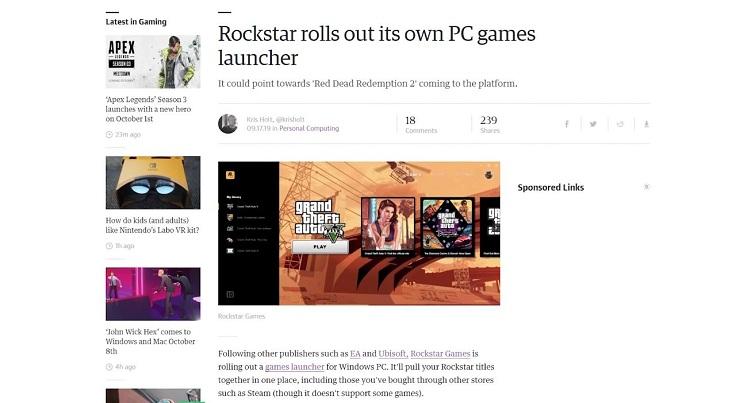 Лаунчер от Rockstar уже вышел