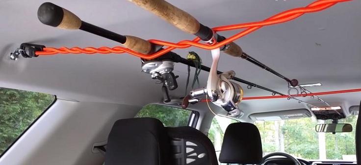 Ремни для перевозки удочек под потолком