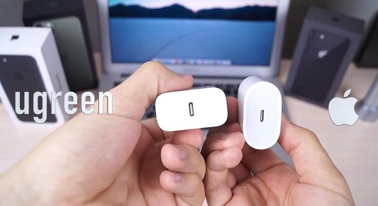 Блок питания на 18 ват, он очень похож на блок от Apple