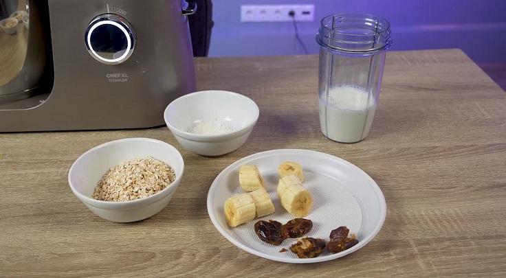 Для спорта можно замутить смузи с бананом, финиками и молоком