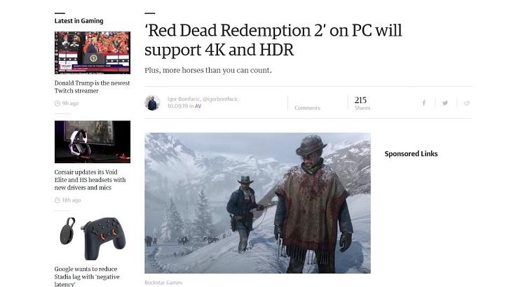 Red Dead Redemption 2 выйдет с улучшениями