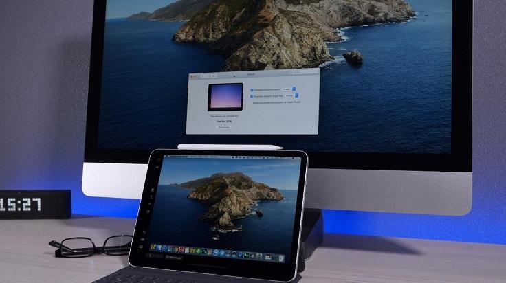 Расширение рабочего стола Mac за счет планшета
