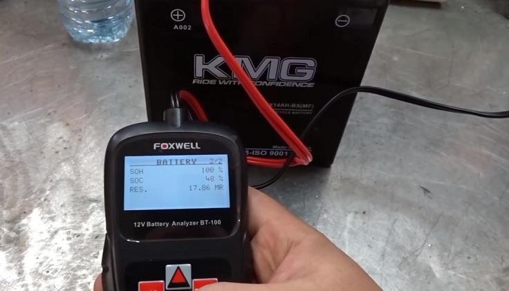 Цифровой тестер аккумулятора