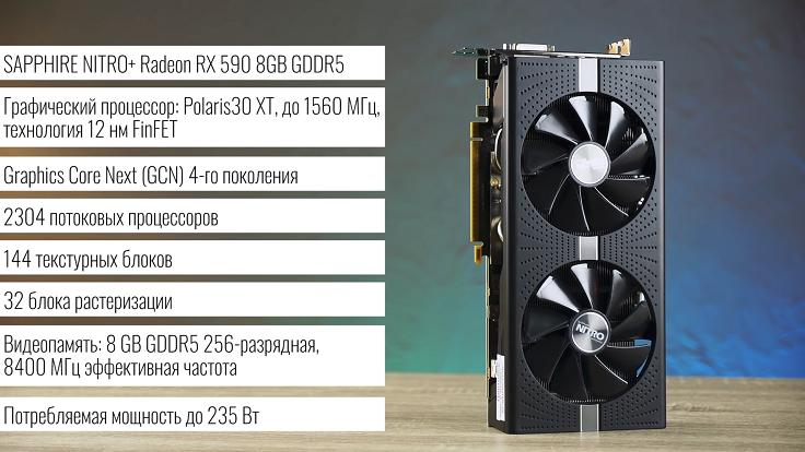 SAPPHIRE NITRO+ Radeon RX 590 8 GB