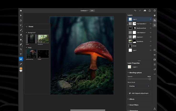 Следить за развитием фотошоп для ipad не перестаем