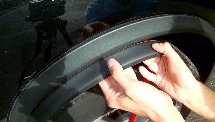 Защита кромок колесных арок