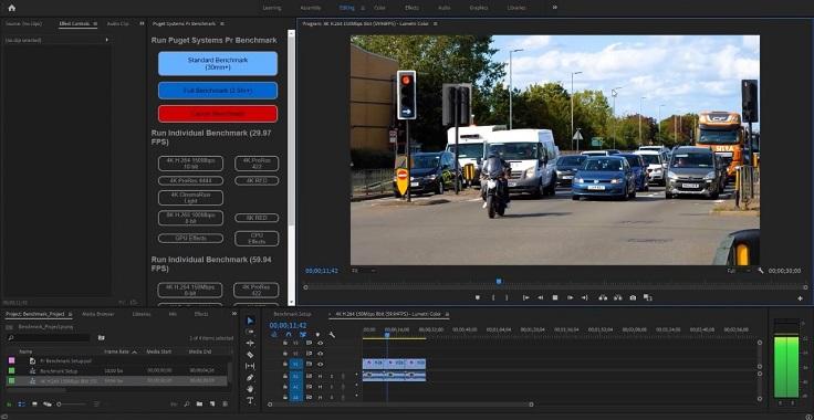 Оценить работу в программах Adobe Premiere и Photoshop мы можем с помощью бенчмарков от компании Puget