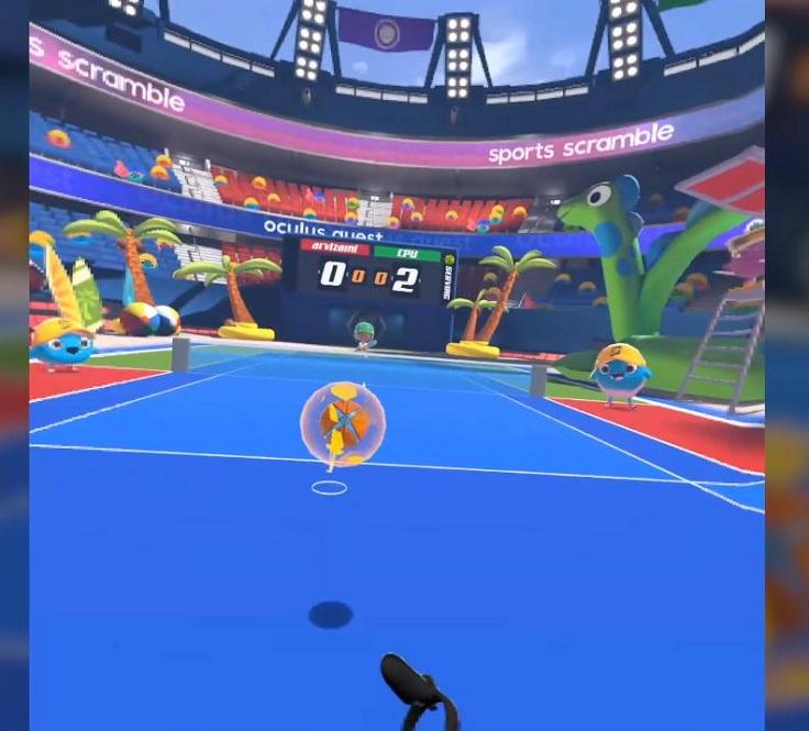 Sports Scramble – в ней Вы сможете спокойно поиграть в теннис
