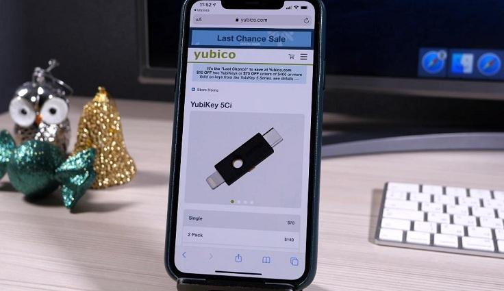 К примеру, такие ключи предлагает компания YubiKey