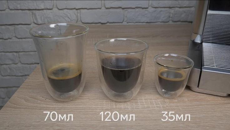 Вот так выглядят порции каждого из напитков