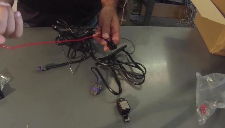 Готовый комплект проводов под противотуманки