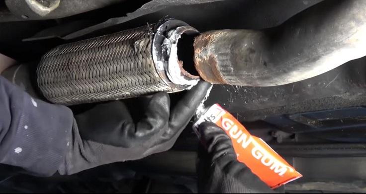 Высокотемпературный герметик для ремонта выхлопной системы