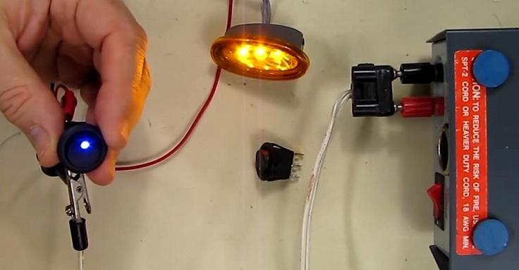Тумблеры со световыми индикаторами включения