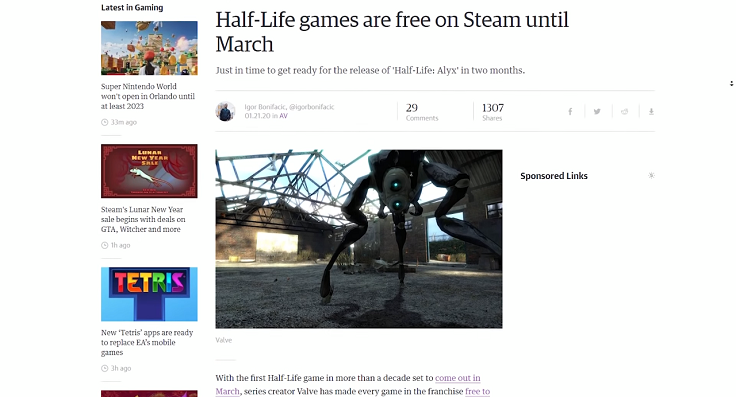 Часть игр Valve стала временно доступна бесплатно