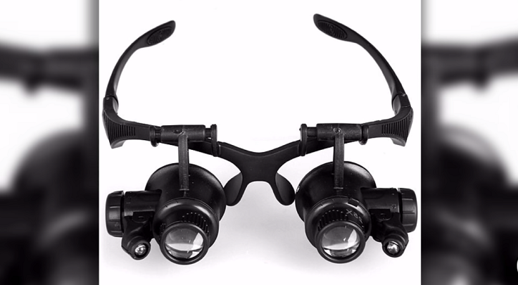 Очки для ремонта мелких предметов