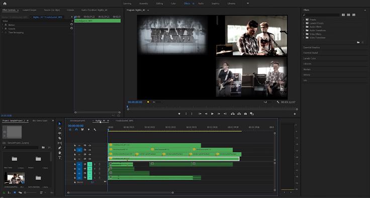 Много лутов и эффектов, 2 исходных видео в 4К и два в Full HD