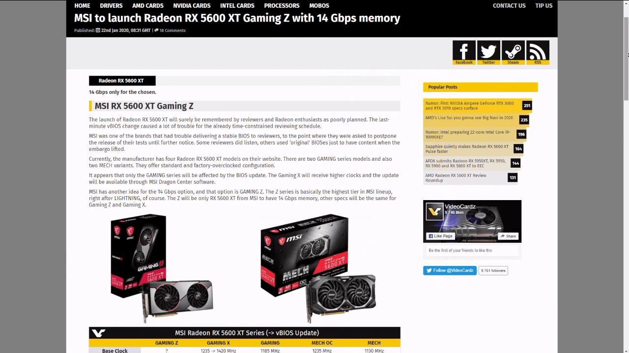 Для вышедшей Gaming X доступна прибавка только к частоте чипа