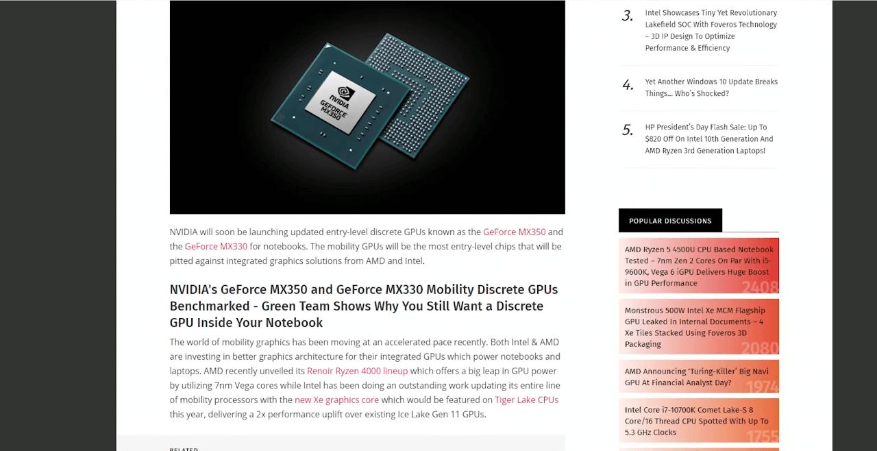 Nvidia обновила бюджетные видеокарты серии MX