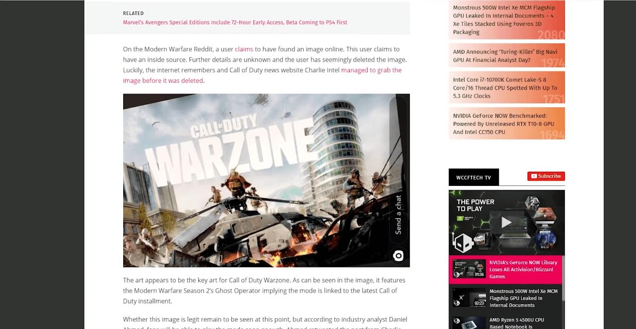 """Call of Duty обзаведется своим режимом """"королевская битва"""", который назовут, скорее всего, Warzone"""