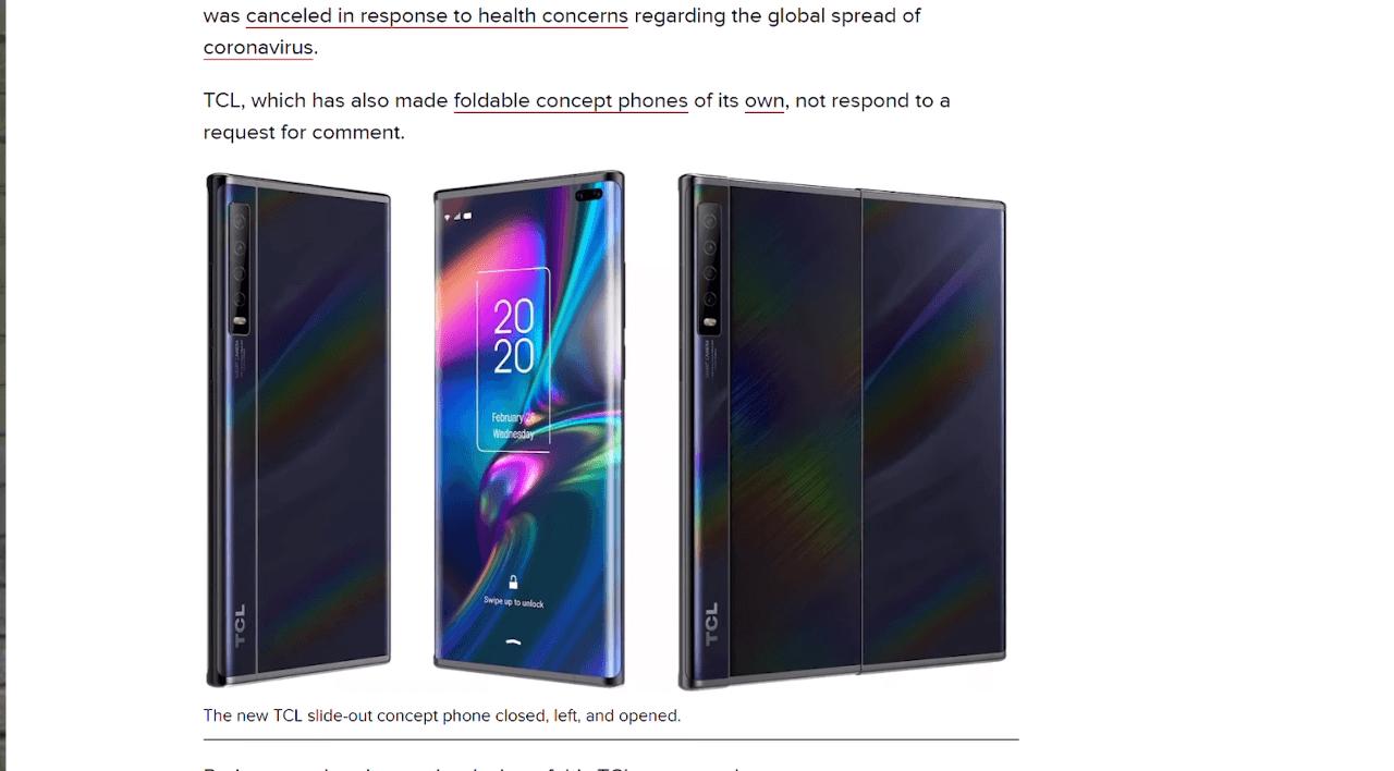 TCL решили, что выдвижной сворачиваемый экран - именно то, что нужно