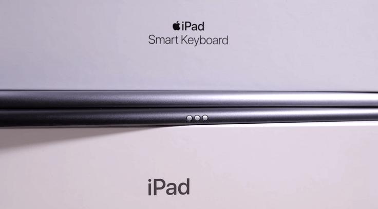 Появились три заветные точки коннектора фирменной клавиатуры Smart Keyboard