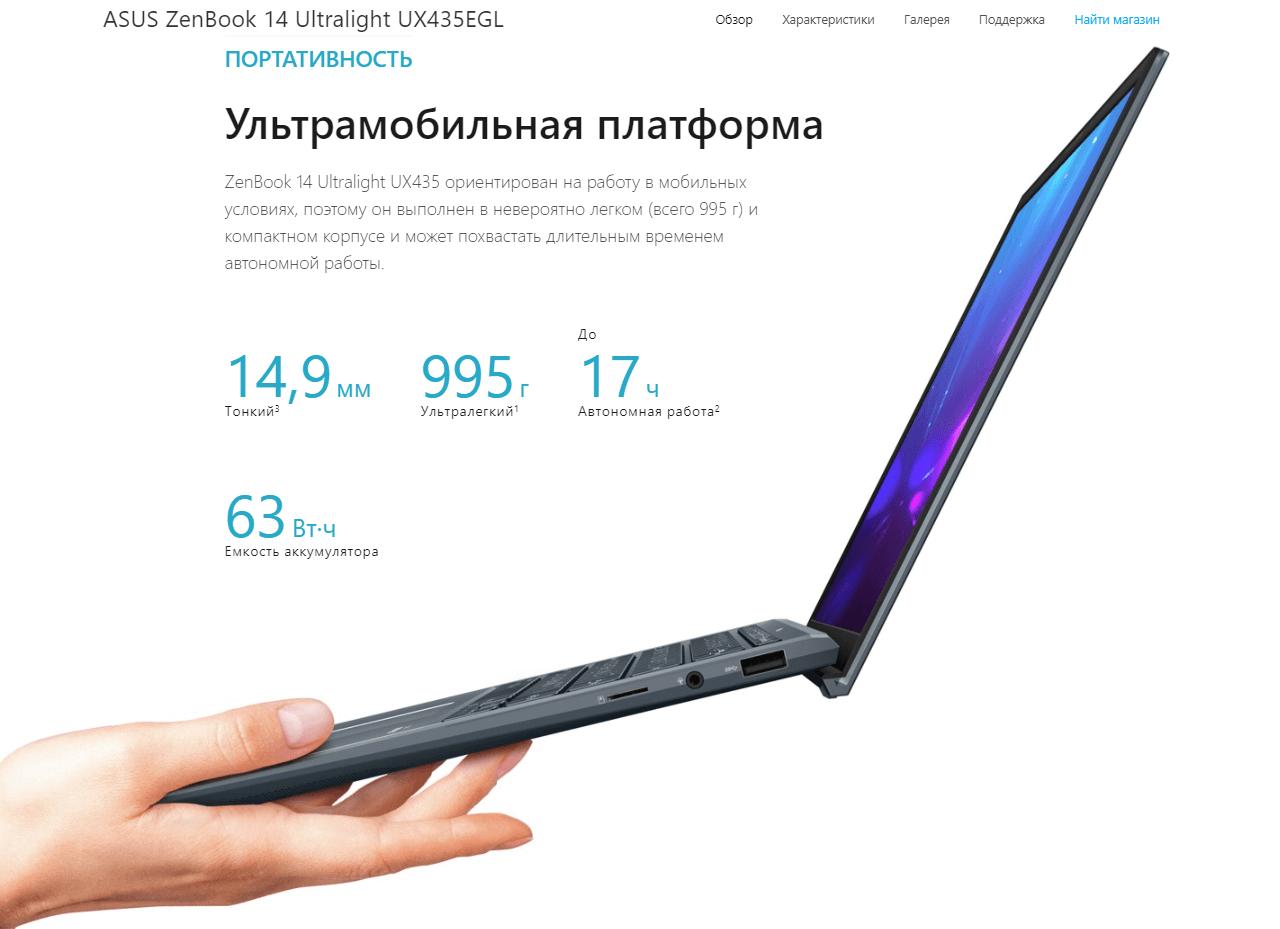 Asus ZenBook 14 Ultralight UX435EGL