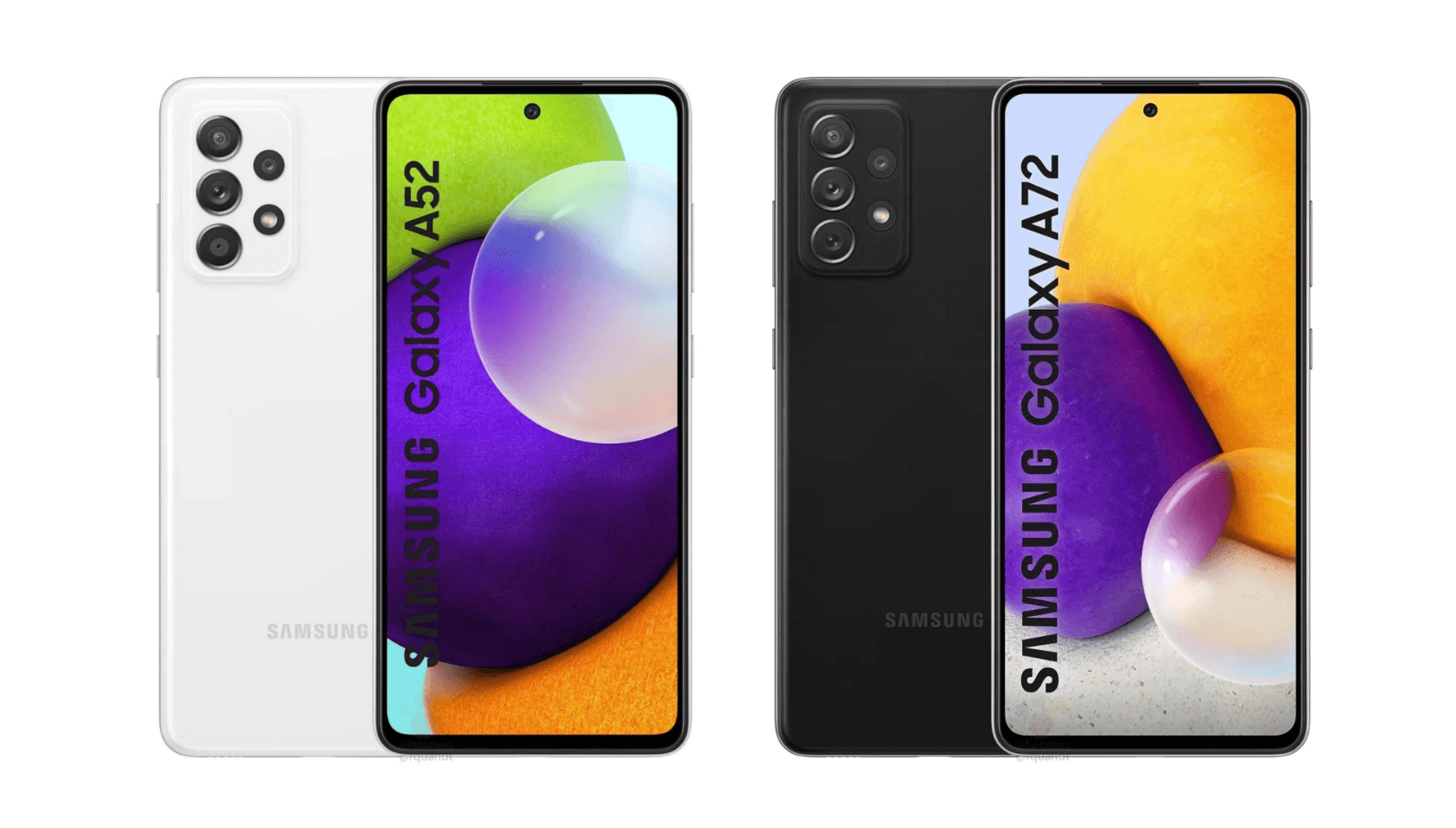 Samsung Galaxy A52 and Galaxy A72 Press Renders | Source: WinFuture